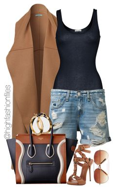 """N A V Y"" by highfashionfiles ❤ liked on Polyvore"