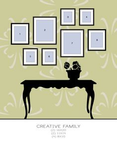 Creative Wall Gallery (different combinations)