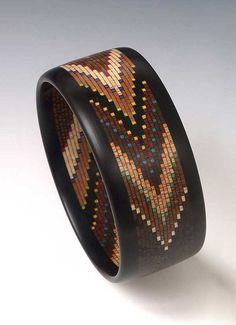Helical Mosaic Chevron Bracelet - Art Jewelry Magazine - Online Community, Forums, Blogs, and Photo Galleries