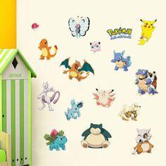 Pokemon Wall Stickers for Kids Pokemon fun merchandise and things http://shopokemon.com/shop/pokemon-poster/pokemon-wall-stickers-for-kids/