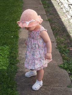 Peach Happy Sun Hat