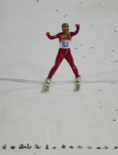 DAY 9:  Kamil Stoch of Poland during the Ski Jumping Men's Large Hill Individual Finals http://sports.yahoo.com/olympics