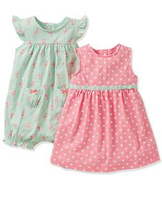 Carter's Baby Girls' 3-Piece Romper, Dress & Panty Set - Kids Newborn Shop - Macy's