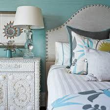 bedroom in aqua