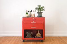 Industrial Shop Cabinet.  Cute to use for a night stand or side table.