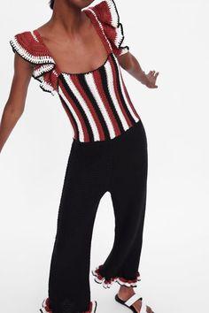 e519e9abc6 ZARA - Female - Limited edition crocheted jumpsuit - Black - M Zara