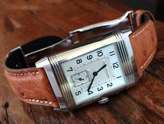 omegaforums: Jaeger LeCoultre Reverso On Ostrich Strap, Simply Stunning. My dream