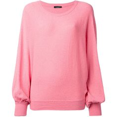Roberto Collina billowing sleeve jumper (10.845 RUB) ❤ liked on Polyvore featuring tops, sweaters, pink, roberto collina, pink sweater, pink jumper, roberto collina sweater and sleeve top