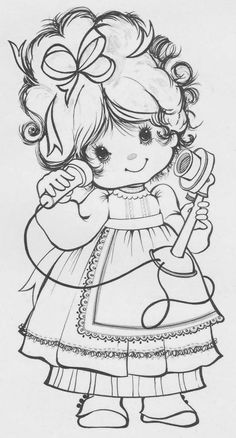 Coloring pages or digi stamp! Precious Moments Coloring Pages, Coloring Book Pages, Copics, Digital Stamps, Printable Coloring, Coloring Pages For Kids, Colorful Pictures, Embroidery Patterns, Paper Embroidery