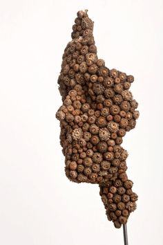 Anna Gillespie Fuses Nature and Art in her Figurative Sculptures Made of Acorns, Beechnut Casings and Bronze sculpture nature