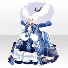 Snow dress (Juvia from Fairy Tale) Manga Clothes, Drawing Clothes, Chibi, Fashion Design Drawings, Fashion Sketches, Anime Outfits, Cute Outfits, Snow Dress, Anime Dress