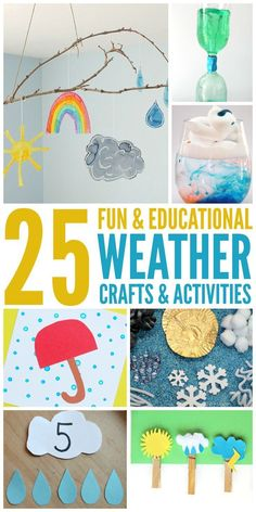 25 Fun Weather Activities and Crafts. #kids #kidsactivities #weathertheme