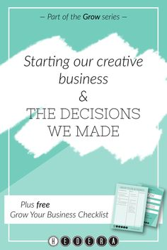 Read about how we grew our business in the first three months and the decisions we made. Grow Your Business Checklist: Our Decisions — Hedera Editing & Publishing