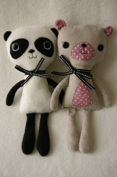 panda & teddy bear