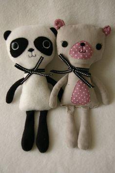 panda & teddy bear