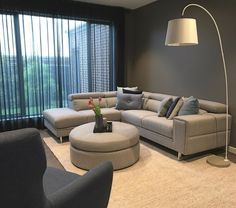 Cool Grey's with our Strata Chaise with adjustable headrests and Noah ottoman. Interior S, Interior Design, Home Fashion, Ottoman, Furniture Design, Lounge, Couch, Cool Stuff, House Styles
