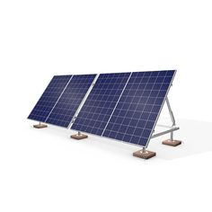 Black Panel 2000 Watts Aluminum and Galvanized Steel Portable Solar Power Kit