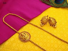 Gold Chain Design, Gold Bangles Design, Gold Earrings Designs, Gold Jewellery Design, Necklace Designs, Gold Jhumka Earrings, Indian Jewelry Earrings, Gold Wedding Jewelry, Gold Jewelry Simple