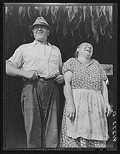 Tobacco farmer & his wife by Jack Delano
