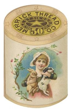 Vintage Labels Clip Art   Lovely Vintage Merrick Thread Ad from the Late 1800′s @ Vintage ...