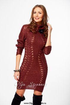 Туника мини-платье из мохера с шелком #tunic #knitting #minidress