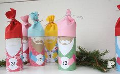 Very cute DIY toilet roll advent calendar #diy #craft #christmas