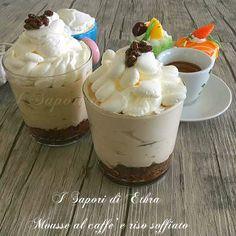 Mousse al caffè e riso soffiato velocissima - I Sapori di Ethra