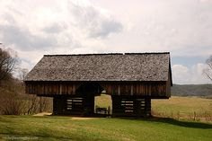the cantilever barn, very neat buildings mostly in Appalachia...