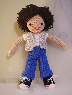 Amigurumi Little-Me Boy Doll by Julia Cate Handmade, via Flickr