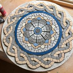 #wip #workinprogress #Roman #mosaic #table #tabledecor #romanmosaic #garden #gardenfurniture #bistro #mosaics
