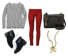 """Untitled #153"" by morgance on Polyvore featuring J.Crew, 2nd One, Madewell, FOSSIL and Marc by Marc Jacobs"