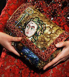 CoCo is Haute - Dolce & Gabana.  Beaded 'Byzantine mosaic' clutch.  wow!