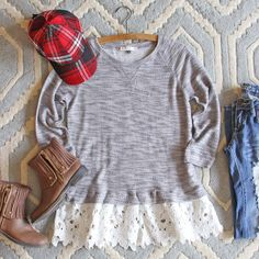 Fall Fable Lace Sweatshirt, $52