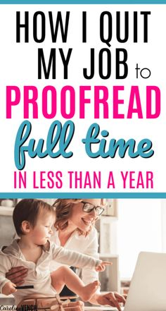 How to Make Money From Home as a Proofreader. Making money at home as a mom by proofreading. Easy way to start proofreading as a full time job for beginners to make extra money. Work at home jobs that are legit and real ways to work from home for beginners and busy moms looking for a new side hustle. Make Money From Home, Way To Make Money, Make Money Online, Money Fast, I Quit My Job, Proofreader, Success, Budgeting Finances, Work From Home Moms