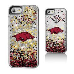 Arkansas Razorbacks Gold Glitter iPhone 7 Phone Case