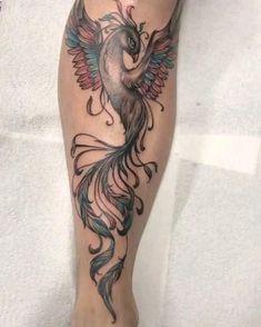 Phoenix Tattoo Feminine, Small Phoenix Tattoos, Phoenix Tattoo Design, Dope Tattoos, Body Art Tattoos, Reborn Tattoo, Star Foot Tattoos, Watercolor Phoenix Tattoo, Phenix Tattoo
