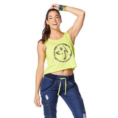 Be the boss of your sassy style in the all-new Be The Boss Loose Zumba Tank. This cut-off tank w/ a loose fit is perfect for class!