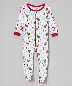 Another great find on #zulily! White Christmas Tree Footie - Infant & Toddler #zulilyfinds
