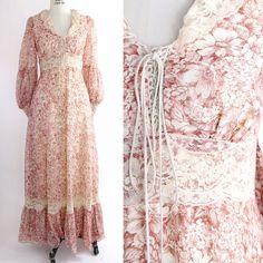 Vintage jaren 1970 Gunne Sax Maxi jurk  Amazing door VerseauVintage