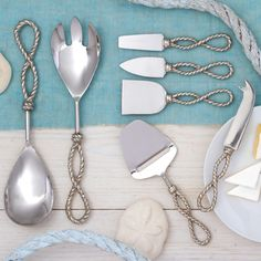 Know Your Ropes Cheese Knives & Hostess Set