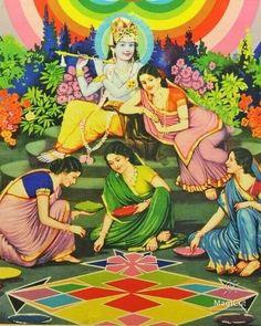 Radha Krishna Pictures, Radha Krishna Love, Krishna Images, Hare Krishna, Yashoda Krishna, Bhakti Yoga, Krishna Painting, Goddesses, Miniature
