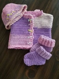 Dragonfly layette set by HomemadebyMa on Etsy Crochet Shawl Free, Purple Haze, Dip Dye, Unique Colors, Booty, How To Wear, Gifts, Etsy, Fashion