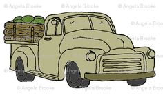 Old Farm Fruit Truck (OLIVE-GRAY)