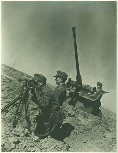 Légvédelmi üteg. - Magyar katonák a II. világháborúban - Múzeum Antikvárium
