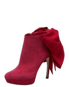 Bow-Back Ankle Boot by Alexander McQueen F/W 12'