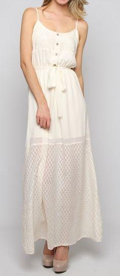 Silk White Maxi