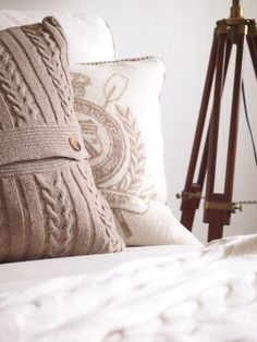 long cable pillow