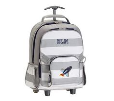 Rolling Backpack, Fairfax Gray/ White Stripe, Rocket