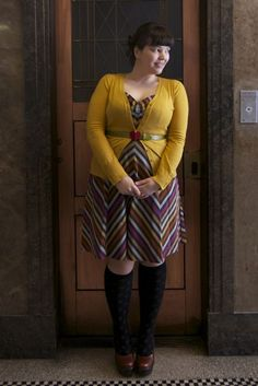 Cute. (Frock & Frou Frou blog - plus size outfits)