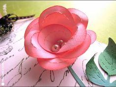 ▶ Cómo hacer una rosa de papel. TUTORIAL - YouTube